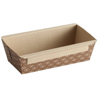 Solut 31905-0380 3/4 lb. Bake and Show Corrugated Kraft Oven Safe Paper Bread Loaf Pan - 380/Case