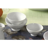 CAC SHA-44 Sushia 4 3/8 inch Super White Round Porcelain Rice Bowl - 36/Case