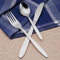 World Tableware Brandware 135 030 Regency 7 1/2 inch 18/0 Stainless Steel Medium Weight Dinner Fork - 36/Case