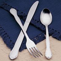 World Tableware Brandware 134 030 Linda 7 3/8 inch 18/0 Stainless Steel Dinner Fork - 36/Case