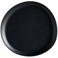 GET Enterprises CS-710-DG Riverstone 7 inch Dark Gray Irregular Round Matte Melamine Coupe Plate - 12/Pack