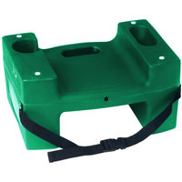 Koala Kare Booster Buddies KB117-S-06 Green Plastic Booster Seat - Dual Height with Safety Strap - 2/Pack