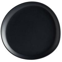 GET Enterprises CS-910-DG Riverstone 9 inch Dark Gray Irregular Round Matte Melamine Coupe Plate - 12/Pack