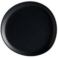 GET Enterprises CS-1050-DG Riverstone 10 1/2 inch Dark Gray Irregular Round Matte Melamine Coupe Plate - 12/Pack
