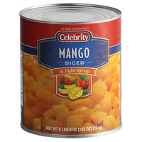 Celebrity #10 Can Diced Mango in Light Syrup - 6/Case