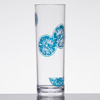 GET H-14-1-SE Keywest 14 oz. Seabreeze SAN Plastic Tom Collins Glass - 24/Case