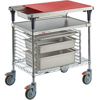 Metro Prepmate MultiStation with Galvanized and Brite Zinc Wire Shelving and Accessory Pack - 18 inch x 30 inch