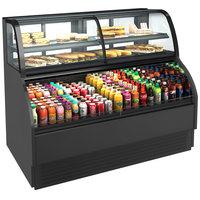 Structural Concepts Harmony HMBC5-E3 Black 63 inch Refrigerated Dual Service Merchandiser Case - 120/230V