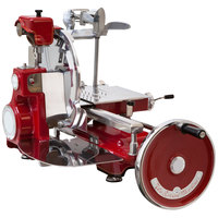 Omas Volano Historic 12 1/2 inch Red Manual Meat Slicer
