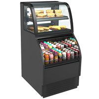 Structural Concepts Harmony HMBC2-E3 Black 27 inch Refrigerated Dual Service Merchandiser Case - 120V