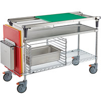 Metro Prepmate MultiStation with Galvanized and Brite Zinc Wire Shelving and Accessory Pack - 18 inch x 48 inch