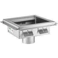 Regency 12 inch x 12 inch 14-Gauge Stainless Steel Floor Sink