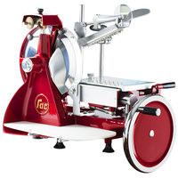 FAC Volano 12 inch Red Manual Meat Slicer with Standard Flywheel