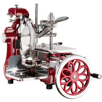 FAC Volano 12 inch Red Manual Meat Slicer with Standard Flower Flywheel