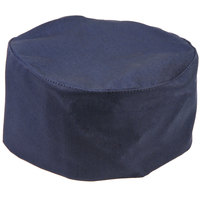 Mercer Culinary Millennia Customizable Navy Top Chef Skull Cap / Pill Box Hat - Regular Size