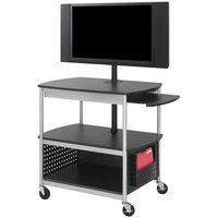 Safco 8940BL Scoot Black Open Flat Panel Multimedia Cart