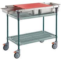 Metro Prepmate Butcher Prep Cart MultiStation with Super Erecta Pro Shelving - 18 inch x 36 inch