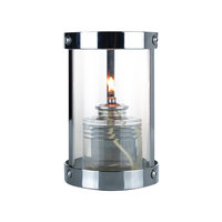 Sterno 80568 Penny 5 1/2 inch Silver Clear Finish Votive Liquid Candle Holder