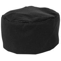 Mercer Culinary Millennia Customizable Black Mesh Top Chef Skull Cap / Pill Box Hat - Regular Size