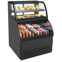 Structural Concepts Harmony HMBC3-E3 Black 39 inch Refrigerated Dual Service Merchandiser Case - 120V