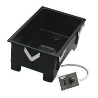 Vollrath 72112 Cayenne Single Well Drop In Hot Food Well with Drain - 240V, 1600W