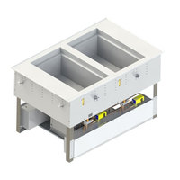 Vollrath FC-6HC-02120-AD Two Well Modular Drop-In Hot / Cold Food Well with Auto Manifold Drain - 120V