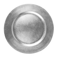 Tabletop Classics TRS-6651 13 inch Silver Round Polypropylene Charger Plate