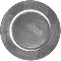 Tabletop Classics by Walco TRS-6651 13 inch Silver Round Plastic Charger Plate