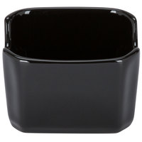 Tuxton BBQ-034 DuraTux 3 1/2 inch Black China Sugar Packet Holder / Caddy   - 12/Case
