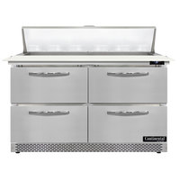Continental Refrigerator SW48N12C-FB-D 48 inch 4 Drawer Cutting Top Front Breathing Refrigerated Sandwich Prep Table