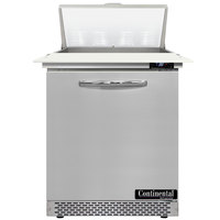 Continental Refrigerator SW27N8C-FB 27 inch 1 Door Cutting Top Front Breathing Refrigerated Sandwich Prep Table
