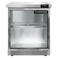 Continental Refrigerator SWF27NGD-FB 27 inch Front Breathing Undercounter Freezer with Glass Door - 7.4 Cu. Ft.