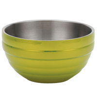 Vollrath 4659230 Double Wall Round Beehive 6.9 Qt. Serving Bowl - Lemon Lime