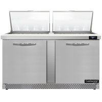 Continental Refrigerator SW60N24M-FB 60 inch 2 Door Mighty Top Front Breathing Refrigerated Sandwich Prep Table