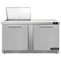 Continental Refrigerator SW60N12M-FB 60 inch 2 Door Mighty Top Front Breathing Refrigerated Sandwich Prep Table