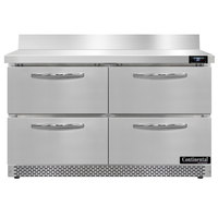 Continental Refrigerator SW48NBS-FB-D 48 inch Front Breathing Worktop Refrigerator with Four Drawers - 13.4 Cu. Ft.
