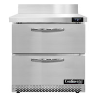 Continental Refrigerator SWF32NBS-FB-D 32 inch Front Breathing Worktop Freezer with Two Drawers - 9 Cu. Ft.