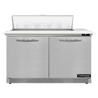 Continental Refrigerator SW48N10C-FB 48 inch 2 Door Cutting Top Front Breathing Refrigerated Sandwich Prep Table