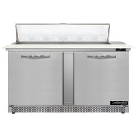 Continental Refrigerator SW60N12C-FB 60 inch 2 Door Cutting Top Front Breathing Refrigerated Sandwich Prep Table