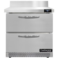Continental Refrigerator SW32NBS-FB-D 32 inch Front Breathing Worktop Refrigerator with Two Drawers - 9 Cu. Ft.