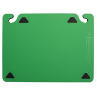 San Jamar CBQGSC1520GN QuadGrip™ 20 inch x 15 inch x 1/8 inch Green Cutting Board with Smart Check Visual Indicator Refill - 2/Pack
