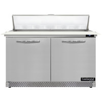 Continental Refrigerator SW48N12C-FB 48 inch 2 Door Cutting Top Front Breathing Refrigerated Sandwich Prep Table
