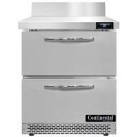 Continental Refrigerator SW27NBS-FB-D 27 inch Front Breathing Worktop Refrigerator with Two Drawers - 7.4 Cu. Ft.