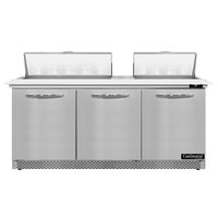 Continental Refrigerator SW72N18C-FB 72 inch 3 Door Cutting Top Front Breathing Refrigerated Sandwich Prep Table