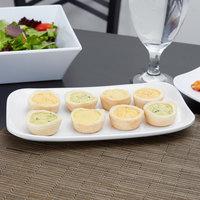 GET CS-6104-W 9 3/4 inch x 5 5/8 inch White Siciliano Rectangular Platter