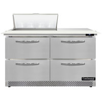 Continental Refrigerator SW48N8C-FB-D 48 inch 4 Drawer Cutting Top Front Breathing Refrigerated Sandwich Prep Table