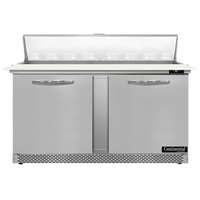 Continental Refrigerator SW60N16C-FB 60 inch 2 Door Cutting Top Front Breathing Refrigerated Sandwich Prep Table