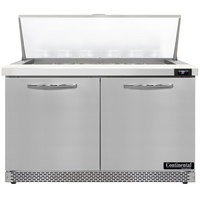 Continental Refrigerator SW48N18M-FB 48 inch 2 Door Mighty Top Front Breathing Refrigerated Sandwich Prep Table