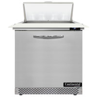 Continental Refrigerator SW32N8C-FB 32 inch 1 Door Cutting Top Front Breathing Refrigerated Sandwich Prep Table