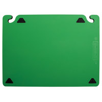 San Jamar CBQGSC1824GN QuadGrip™ 24 inch x 18 inch x 1/8 inch Green Cutting Board with Smart Check Visual Indicator Refill - 2/Pack